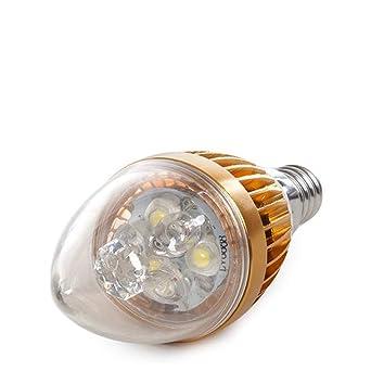 Greenice | Bombilla de LEDs Vela E14 3W 12VAC/Dc 240Lm 30.000H | Blanco
