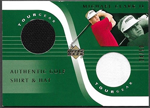 Tour Floorboards - Michael Clark Ii 2001 '01 UD Tour Gear Authentic Golf Shirt & Hat Card - 24/50