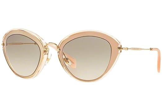 Miu Miu UFD-3H2 Pink   Gold 51R Cats Eyes Sunglasses Lens Category 1 ... d7dbc1d0782df