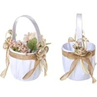 Chengstore - Mini cesta de flores para bodas