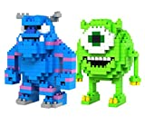 micro blocks - LOZ Diamond Blocks Monsters INC Mike Wazowski and Sulley 2 Pcs Set by LOZBlock