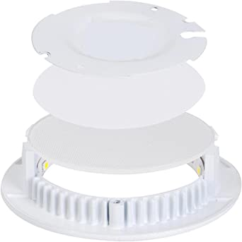 10X9W Ultraslim LED Rund Panel Einbaustrahler Einbau Deckenleuchte Spot-Warmweiß