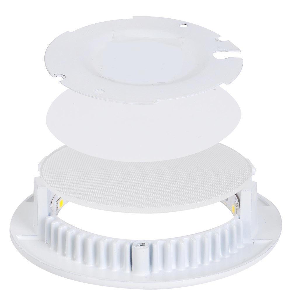 6W Blanco fr/ío MYHOO 10X6W LED luz de techo de Alta calidad Dise/ño de Panel LED Foco empotrable L/ámpara de techo Aplique de pared redondo 10 Piezas