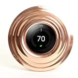 Koyal Wholesale Metal Thermostat Trim Plate for Nest, Wall Plate (Round 7'', Aluminum Copper)
