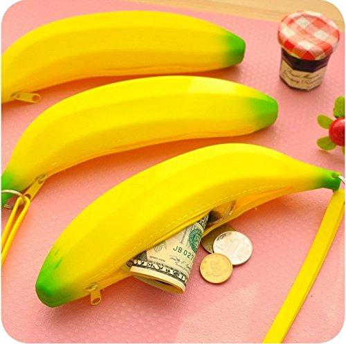 Bear - Monedero de Anime con diseño de plátanos Amarillos ...