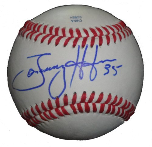 (Philadelphia Phillies Tommy Hunter Autographed Hand Signed Baseball with Proof Photo of Signing, Chicago Cubs, Baltimore Orioles, Texas Rangers, Tampa Bay Rays, COA)