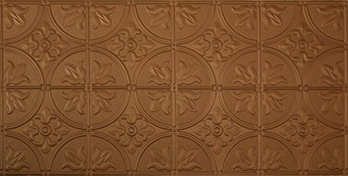 Matte Copper Backsplash (Global Specialty Products Pattern No.309 Tin Style Panel, 2 by 4-Feet, Aged Copper)