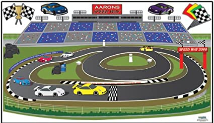 Amazoncom Race Track Adventures Wall Mural for Boys Car Theme Room