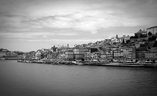 (Home Comforts Canvas Print Portugal Old Town Port Wine Porto Port Tourism Stretched Canvas 32 x 24)