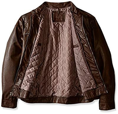 Calvin Klein Men's Big Polyurethane Faux Lamb Leather Jacket