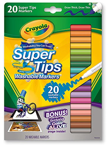 Blank Book for Kids & Crayola Markers Set for Kids - Blank ...