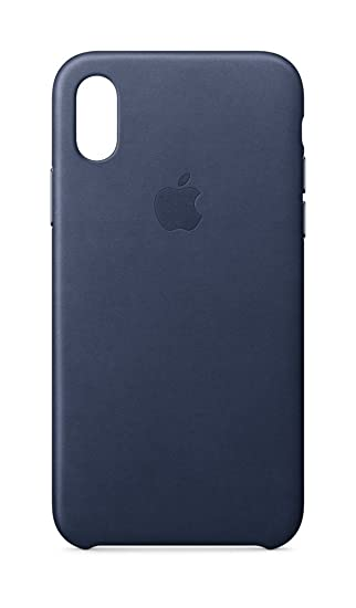 new arrivals 16e16 e5318 Apple Leather Case (for iPhone X) - Midnight Blue - MQTC2ZM/A
