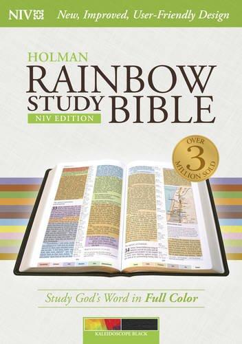 - NIV Rainbow Study Bible, Kaleidoscope Black LeatherTouch