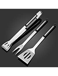Bargain 3PCS Stainless Steel BBQ Tools Camping Supplies Outdoor Tools save