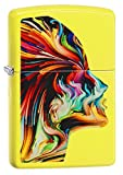 Zippo Colorful Face Pocket Lighter, Neon Yellow