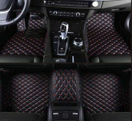 (For Cadillac XTS SRX CTS ATS CT6 XT5 XT4 Escalade All Models Car Floor Mats Luxury Custom FloorLiner Auto Mats All Weather Protector Car Floor Mats Carpets (Black/Red,CTS-2014-2018-Sedan 4-Door))