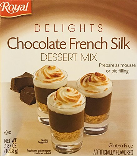 Royal Delights Dessert Mix! Choose From Pumpkin Spice, Chocolate French Silk, Or White Chocolate! Prepare As Mousse Or Pie Filling! Delicious! Easy To Make! 1 Pack! (Chocolate French Silk)