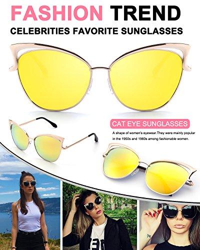Dorado MS4 Gato Espejo Ojos GQUEEN De Dorado para de Sol Gafas Modelo Mujer B xAaxOwq