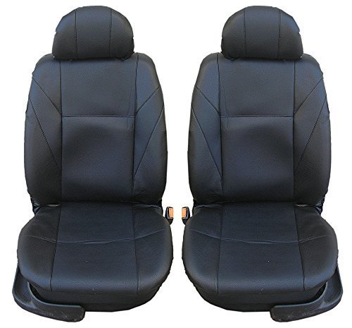 flexzon 1+1 Front Leatherette Black Seat Covers For for sale  Delivered anywhere in Canada