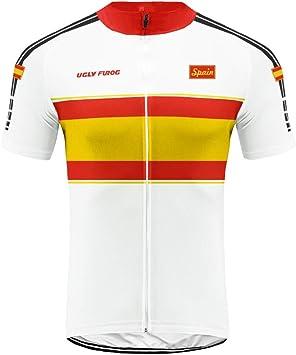 Uglyfrog Spain Camisetas de Ciclismo de Manga Corta de Hombres Respirables Tops para Bicicleta, Motorista, Bicicleta GQX07: Amazon.es: Deportes y aire libre