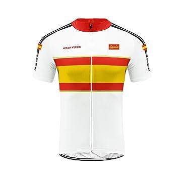 Uglyfrog 2019 Bike Wear -Conjunto Maillot Bicicleta Hombre Verano Ropa Carretera Corta MTB Traje+Peto Corto Transpirable de Ciclismo, con Badana, Bib ...