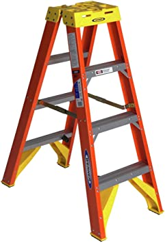 Amazon Com Werner T6204 Twin Step Ladder Fiberglass Automotive