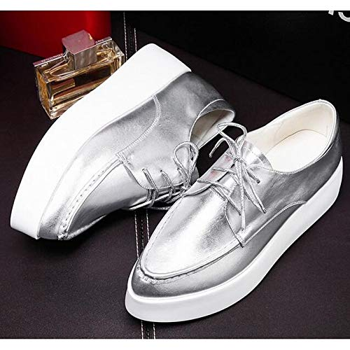 Silver Comfort Beige Flat Heel ZHZNVX Spring Nappa Leather Women's Beige Shoes Sneakers White wPPvSqX