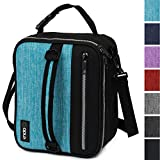 OPUX Premium Thermal Insulated Lunch Bag| Durable Lunch Box for Adult Men Women | Soft Leakproof Lining with Shoulder Strap | Compact Work Lunch Pail (Turquoise)