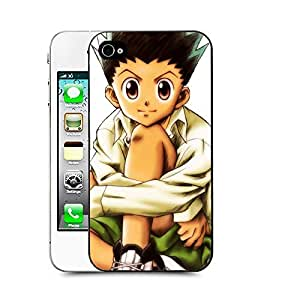 Case88 Designs Hunter X Hunter Gon Freecss Protective Snap-on Hard Back Case Cover for Apple Iphone 4 4s