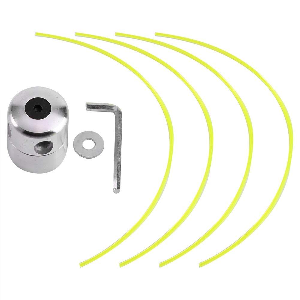 Wolfgo Trimmer Head-Universal Strimmer en Alliage daluminium Trimmer Head String Set for d/ébroussailleuse Herbe /à Essence