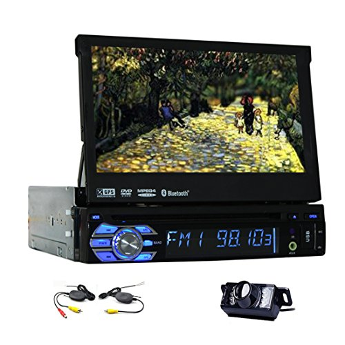 7 Inch Universal 1 Din Car Audio DVD Player Detachable Front