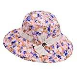 Panda Superstore Large Brimmed Beach Hat Breathable Hat Summer Ms. Collapsible Sun Hat UV