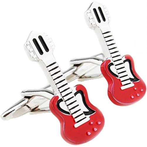 Guitar Collection Novelty Zachary Brown Cufflinks Red xvq5fwn