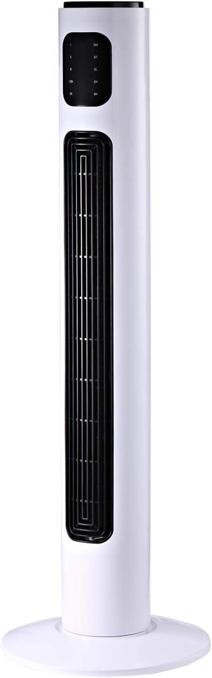 HOMCOM Ventilador de Torre con Control Remoto Tower Fan Columna ...