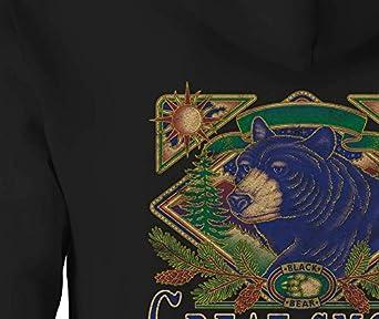 Zip Up Hoodie Smoky Mountains Bear Hooded Sweatshirt for Men
