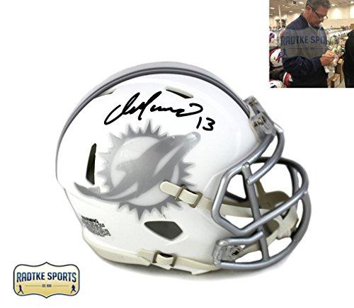 Dan Marino Signed Helmet - Dan Marino Autographed/Signed Miami Dolphins Riddell Current Ice NFL Mini Helmet