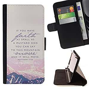 For Samsung Galaxy J1 J100 J100H Mountain Faith God Jesus Christ Bible Style PU Leather Case Wallet Flip Stand Flap Closure Cover