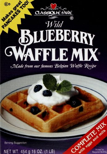 Classique Fare Waffle and Pancake Mix Wild Blueberry 16.0 OZ (Pack of 6)