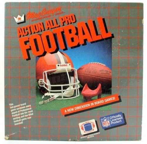MacGregor Sporting Goods presents ACTION ALL PRO FOOTBALL. A New dimension i Board Games. Officially licensed NFL product. Ages 8 to Adults for 2-4 Players - Macgregor Sporting Goods
