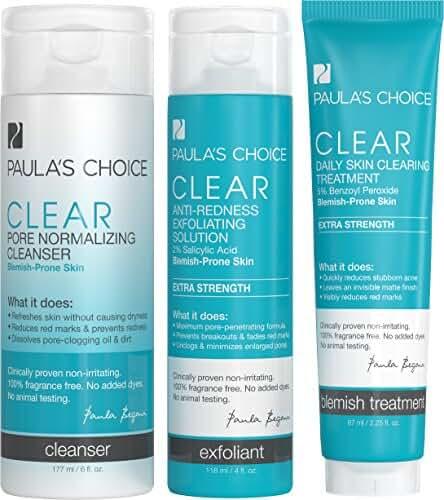 Paula's Choice CLEAR Extra Strength Acne Kit - 2% Salicylic Acid & 5% Benzoyl Peroxide for Severe Acne