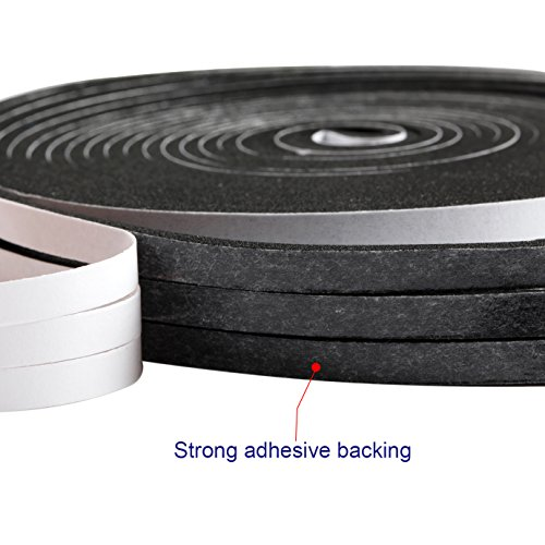 Adhesive Foam Tape, High Density Sound Proof Insulation Closed Cell Foam Seal Weather Stripping 1/4 Inch Wide X 1/8 Inch Thick X 50 Feet Long (1/4in 1/8in) by MAGZO (Image #2)