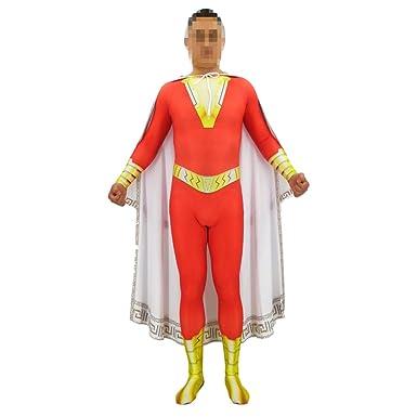 Captain Marvel Cosplay Anime Superhero Costume Zentai Jumpsuit Spandex Bodysuit