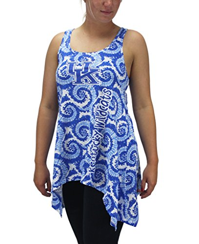 Wild Tie Dye - Creative Apparel Women' s Kentucky Wildcats Tie Dye Tank Top Shirt