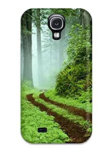 Galaxy S4 Case, Premium Protective Case With Awesome Look - Vista Forest Green Leaves Nature Other by lolosakes