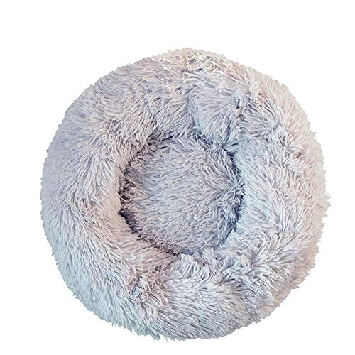 TOPSOSO Cat Bed Dog Bed Round pet nest Extra Soft Comfortable Cute,Cat Cushion Bed Washable,Oval Donut Nesting Cave Bed…