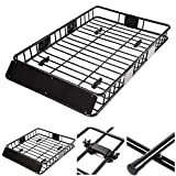 Yescom Universal 64'' Roof Rack Car Top Cargo Basket Carrier with Extension Luggage Holder