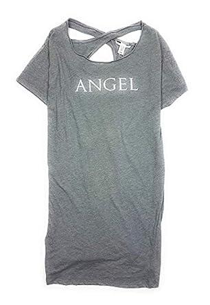 dab6e374713dc Victoria's..Secret Angel Sleep Shirt Keyhole Back Nightgown Gray ...