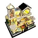 OSHIDE ドールハウス DIY LEDライト付属 西洋風 マリン 海 ドールハウス 組み立てキット ハンドメイド 照明 点灯 人形 おもちゃ ホビー ミニチュア 小物 インテリア