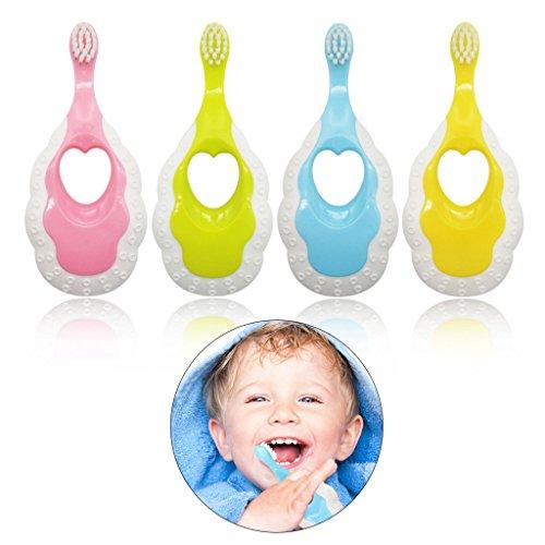 Onpiece Cartoon Soft Anti Slip Handle Toothbrush For Toddler Kids Newborn Oral Care