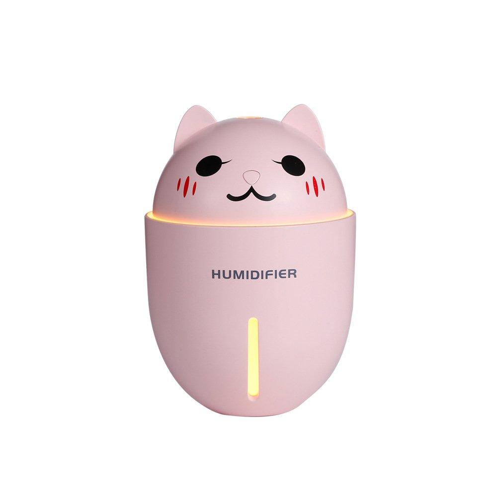 brandy/jackson/q Cat Shape Humidifier Mini USB Humidifier Portable Night Ligh Home Supplies White